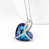 925 Sterling Silver Heart of the Sea Nacklace - Posh N Popular Jewelry