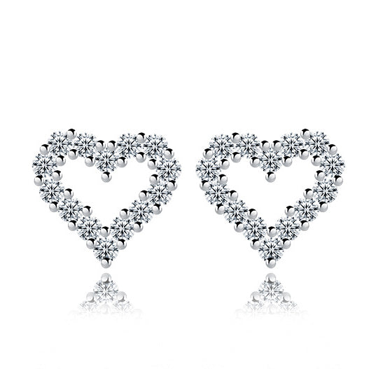 Heart Stud Earrings - Posh N Popular Jewelry