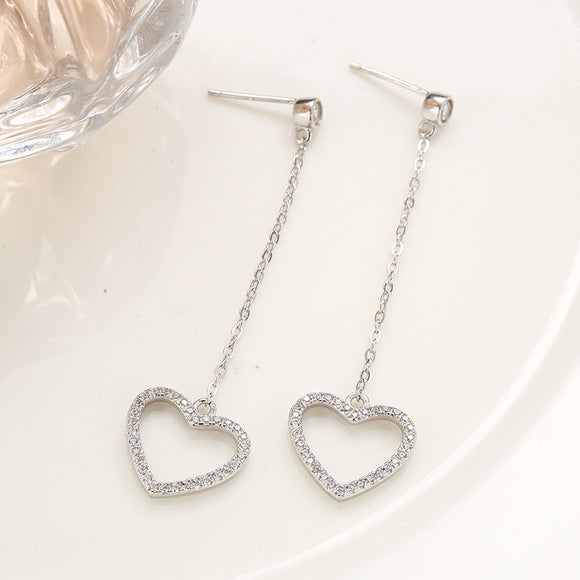 Long Heart Earrings - Posh N Popular Jewelry