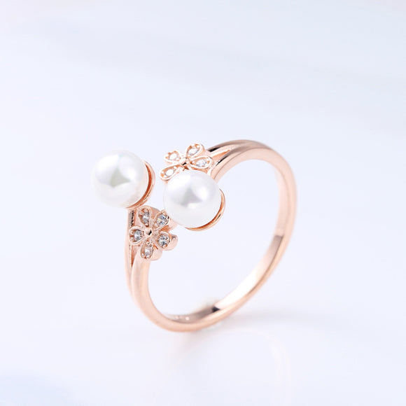 Pearl Rose Gold Ring - Posh N Popular Jewelry