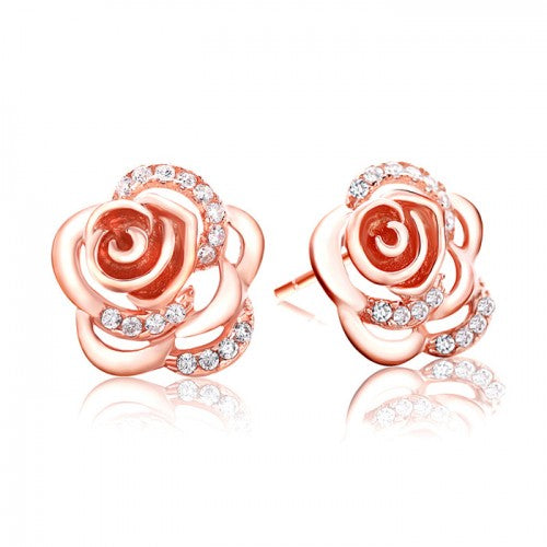 Stud Rose Gold Earrings - Posh N Popular Jewelry