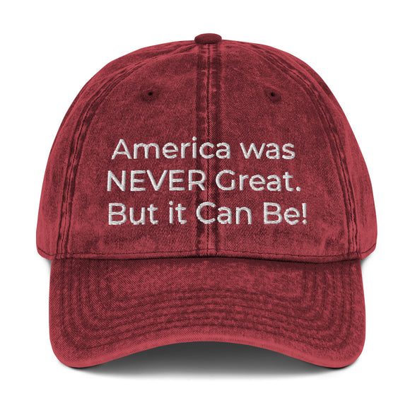 AWNG (America Was Never Great) Vintage Cotton Twill Cap