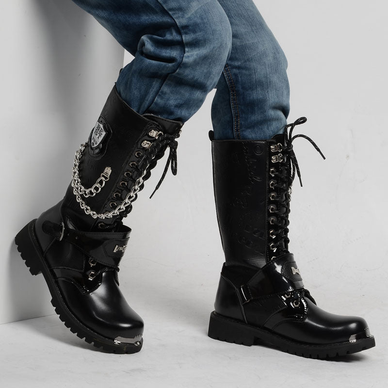 Chain Motorcycle Boots New Yoogger