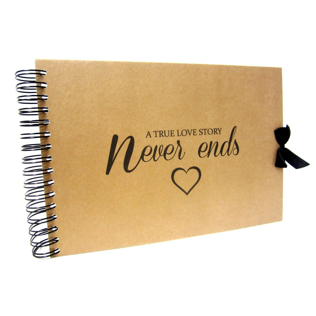 A True Love Story Never Ends (with heart graphic), Quote Album