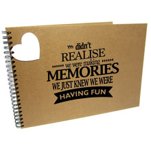 We Didn't Realise We Were Making Memories, Quote Album
