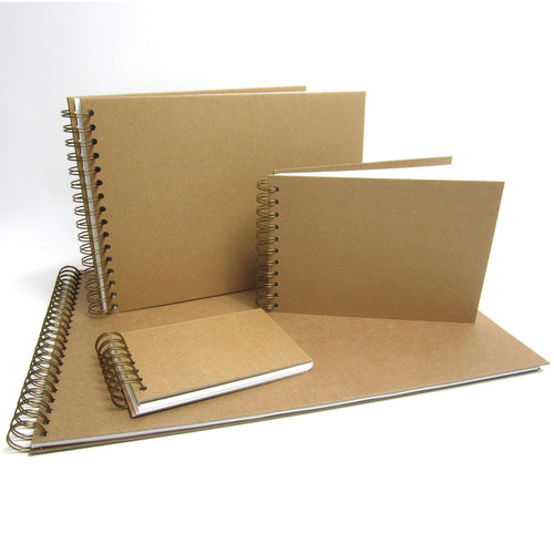 Hardback Sketchbook, Acid-Free Cartridge Paper, Kraft Covers