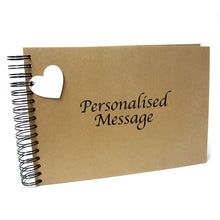 Personalised Kraft Scrapbook, Photo Album, Guest Book, Gift