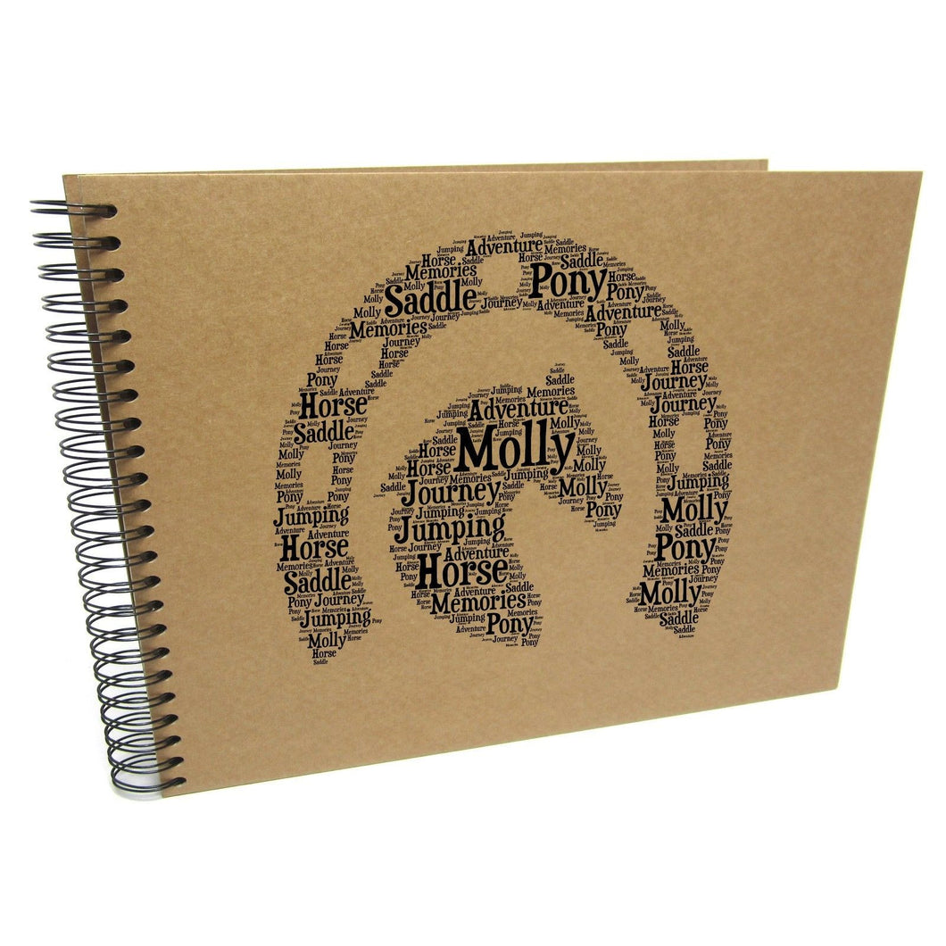 Personalised Horse Themed Typography Album
