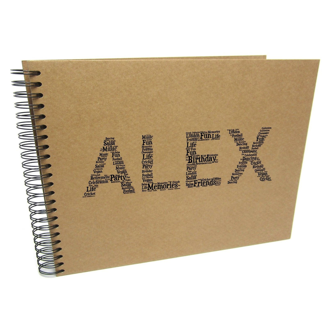 Personalised NAME Typography Design Album