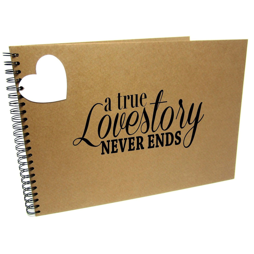 A5/A4/A3/Square, A True Love Story Never Ends, Quote Scrapbook Album