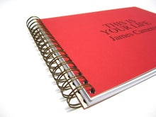 Personalised This Is Your Life Memory Book (Red)