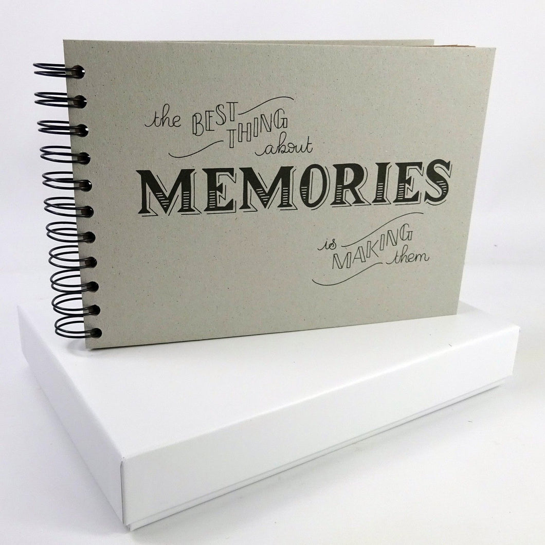 Boxed Best Memories Photo Album Scrapbook, Gift Memory Book, A5 6x4