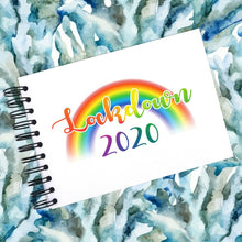 LOCKDOWN 2020, A5/A4/A3 Scrapbook Photo Album Memory Keepsake Rainbow