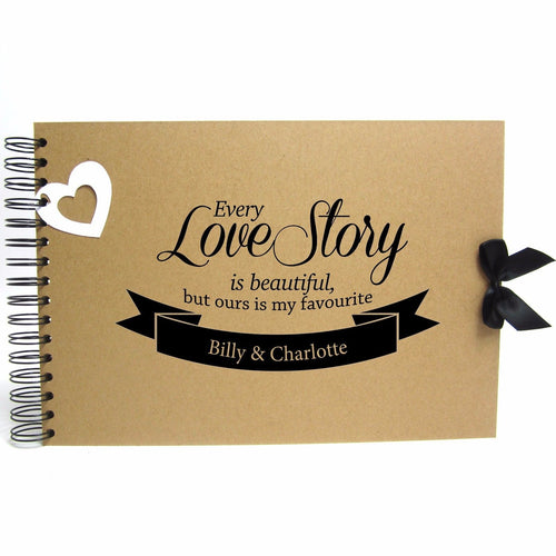 Personalised Kraft Scrapbook A5 A4 Every Love Story, Photo Album, Keepsake