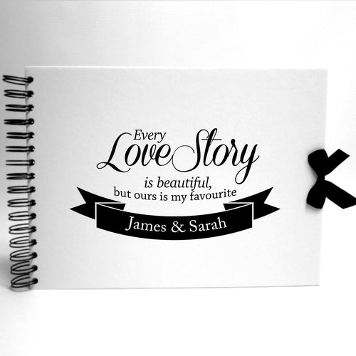 Personalised White Scrapbook A5 A4 Every Love Story, Photo Album, Keepsake