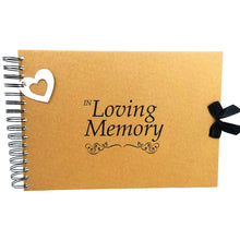 A3/A4/A5, In Loving Memory, Condolence Book, Keepsake, Card Pages, Photo Album