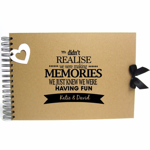 Personalised Kraft Scrapbook A5 A4 Making Memories, Photo Album, Keepsake