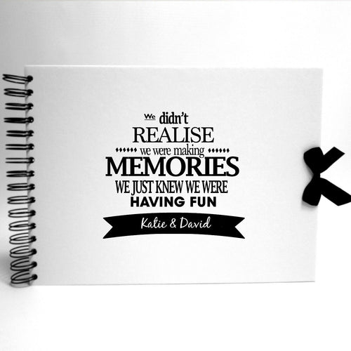 Personalised White Scrapbook A5 A4 Making Memories, Photo Album, Keepsake