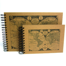 Personalised Map Scrapbook A5 A4 Travel Journal, Photo Album, Guestbook