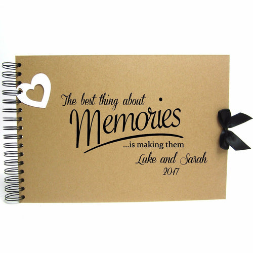 Personalised Kraft Scrapbook A5 A4 Best Memories, Photo Album, Keepsake