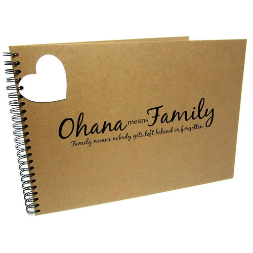 A3/A4/A5 Ohana Means Family, Scrapbook, Landscape, Photo Album, Memory Book