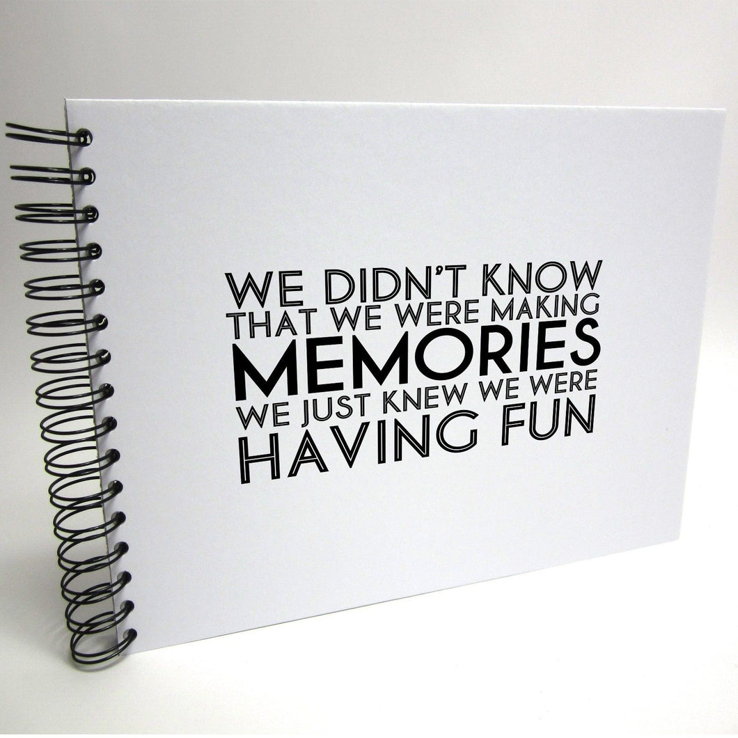 Quote A3/A4/A5 Making Memories, Scrapbook, Photo Album, Memory Book, Memory Book