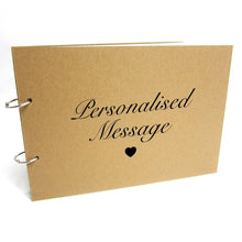 Personalised A3/A4/A5 Refillable Binding Ring Scrapbook, Photo Album, Guest Book