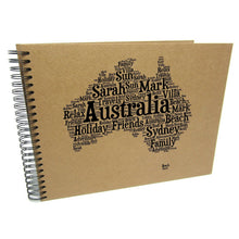 Personalised A3/A4/A5/ Travel Holiday Scrapbook, Photo Album, EU, USA, Australia