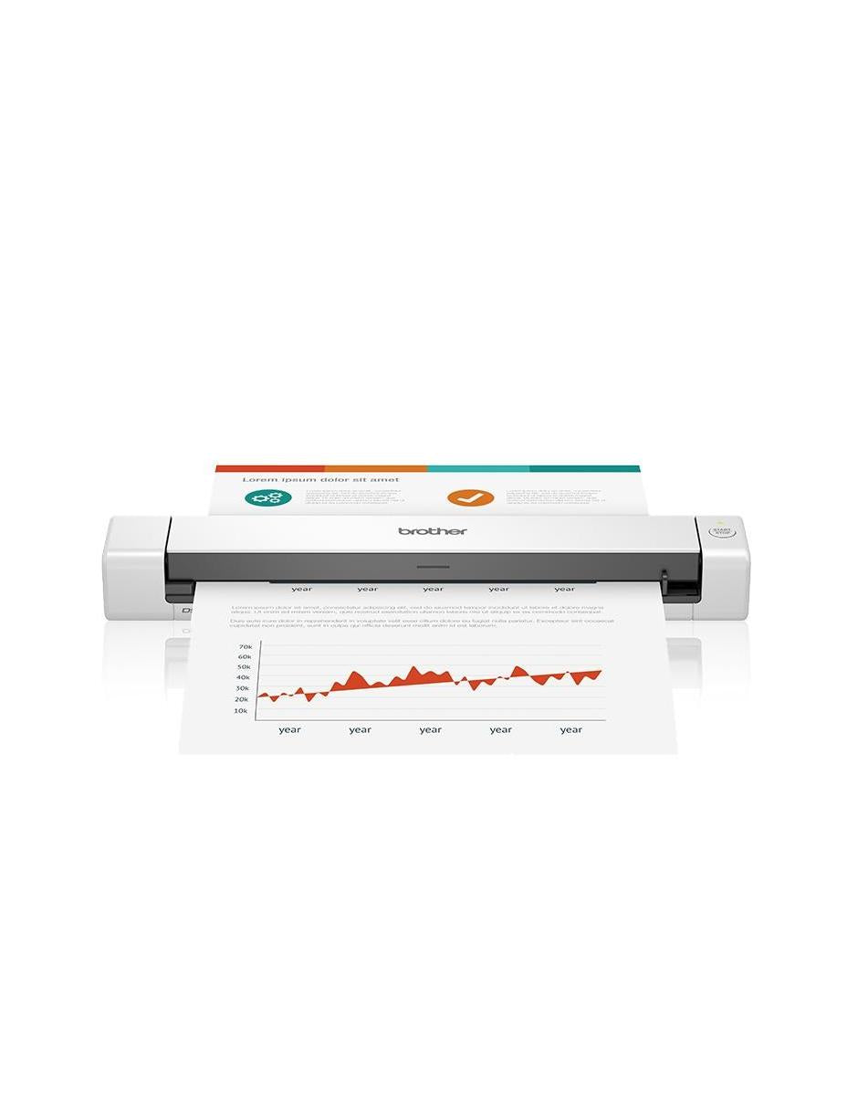 Scanner Portátil Brother DS640, 1200 x 1200 DPI, Escáner Color, USB 3.0, Negro/Blanco