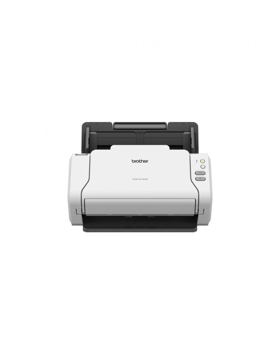 Scanner Brother ADS-2700W, 600 x 600DPI, Color, USB 2.0, WiFi, Negro/Blanco