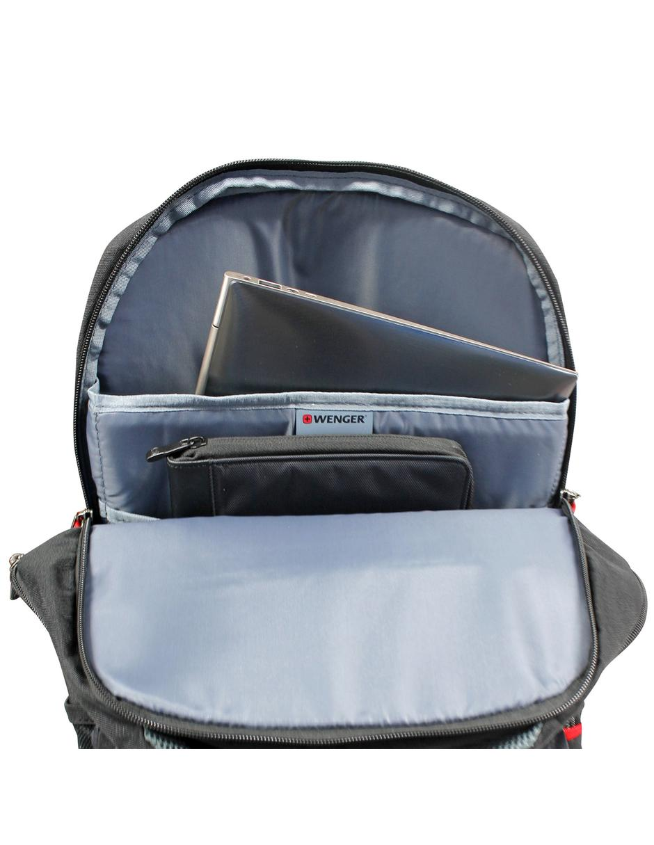 "Mochila Wenger portalaptop UpLink, para laptorp de 16"" y tablet de 10"", 605094, mochila expandible, color gris, tecnología Air Flow."
