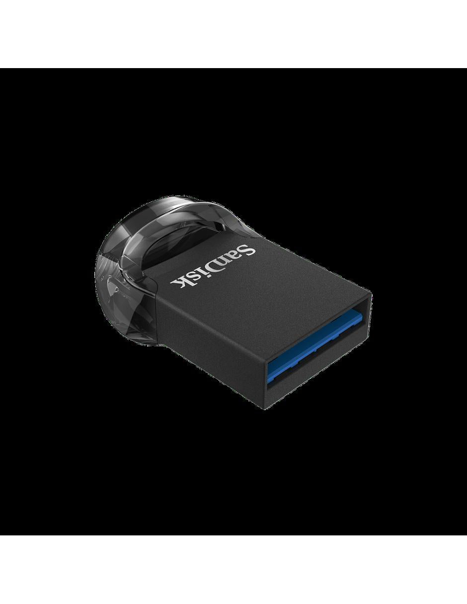 Memoria USB SanDisk Ultra Fit Z430, 64GB, USB 3.0, Negro
