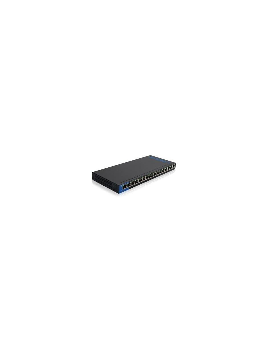 Switch Linksys Gigabit Ethernet LGS116, 16 Puertos 10/100/1000Mbps, 8000 Entradas - No Administrable