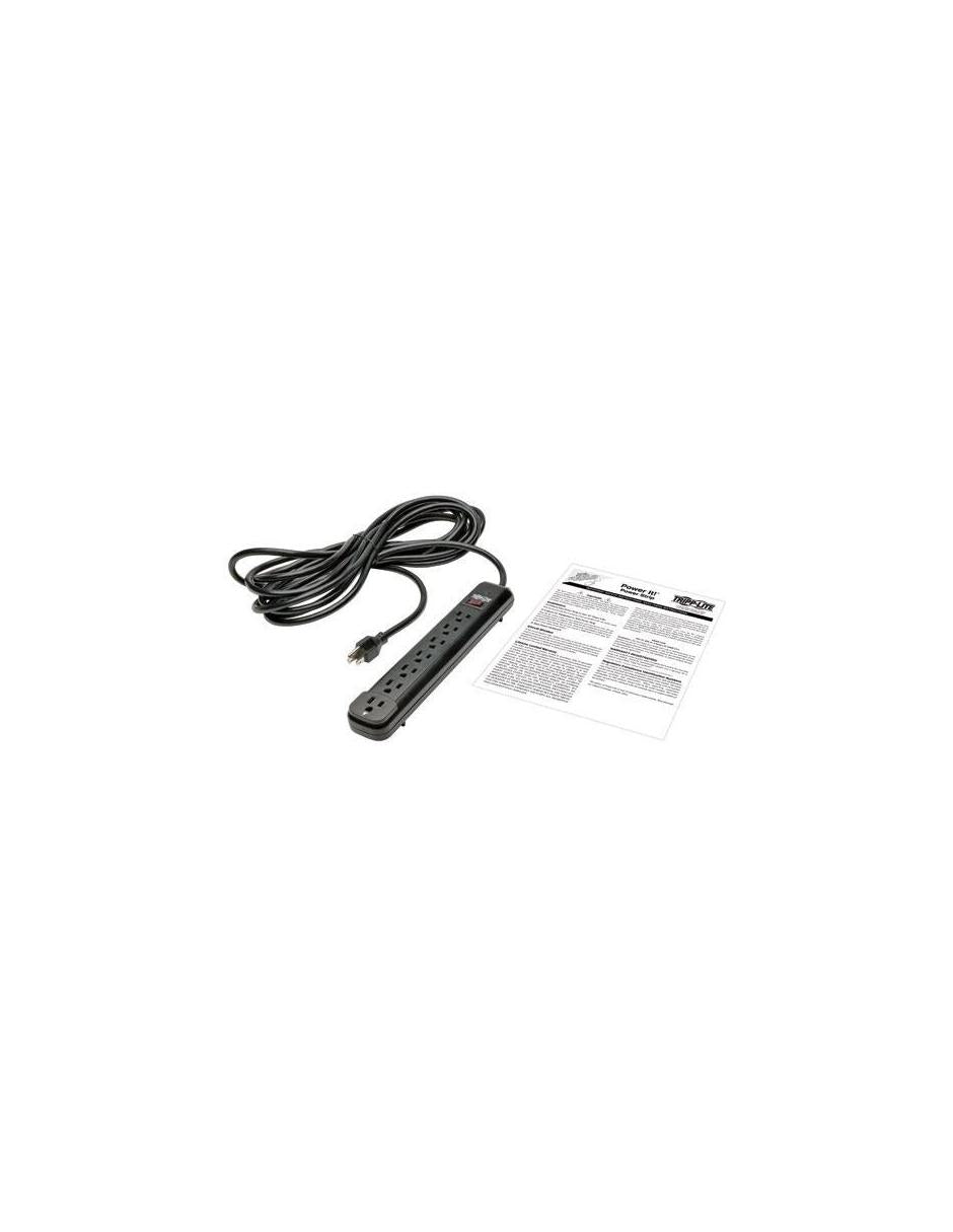 Tripp Lite Barra de Contactos Power It!, 7 Contactos, 15A, 120V, Negro