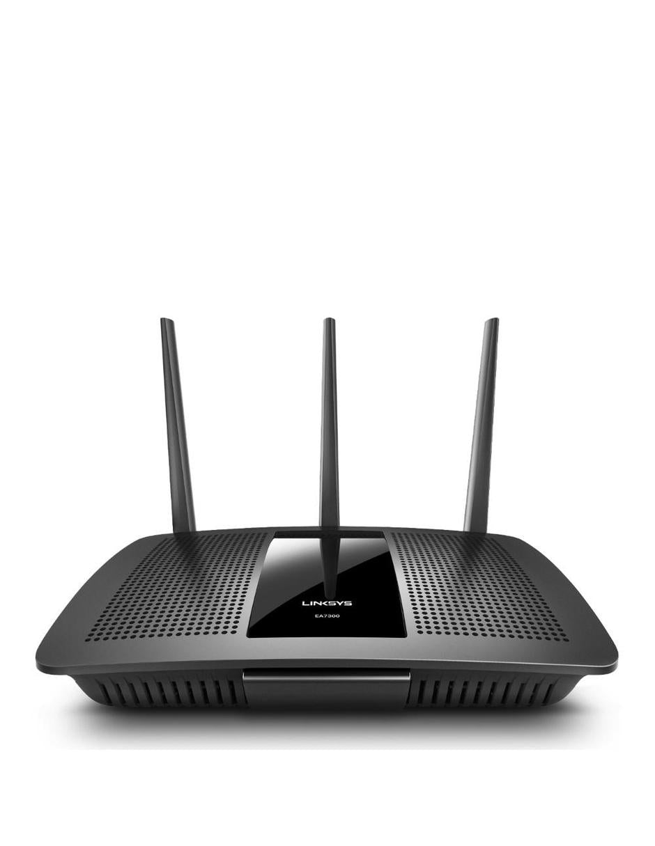 Router Linksys Gigabit Ethernet de Doble Banda EA7300, Inalámbrico, 4x RJ-45, 2.4/5GHz, con 3 Antenas