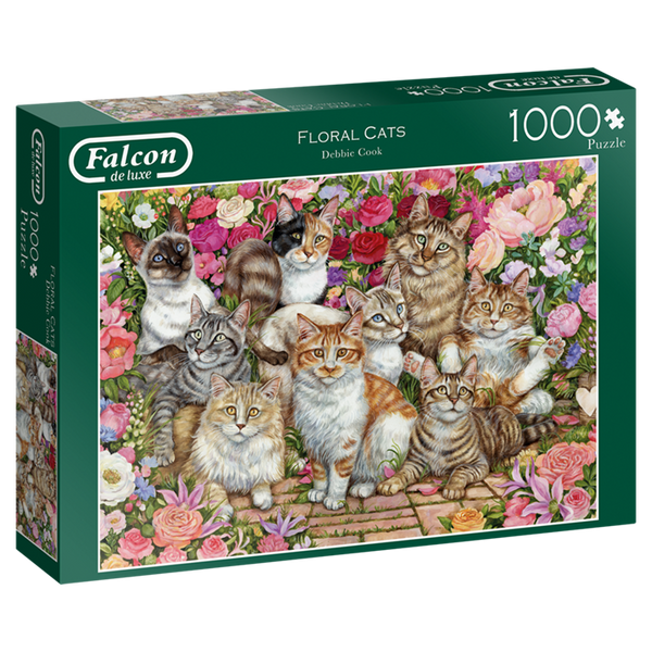 Floral cats | 1000pc | 11203