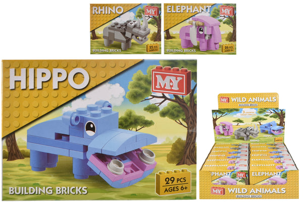 Hippo / Rhino / Elephant brick set (one suppplied)