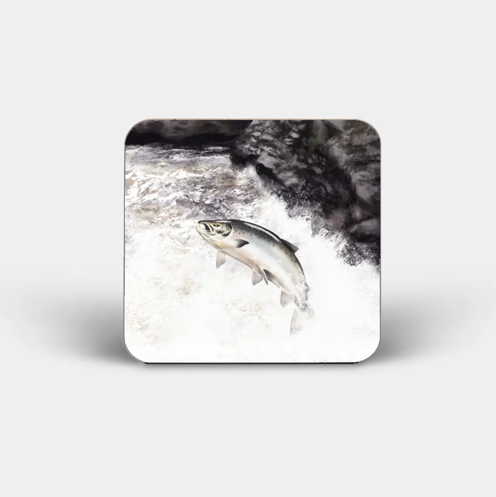 """Leaping Salmon"" - Highland Collection Coaster"