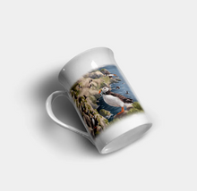 "Load image into Gallery viewer, ""Puffin"" - Highland Collection Bone China Mug"