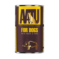 AATU 90/10 Tinned Dog Food, Wild Boar and Pork, 400g (Wet)