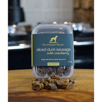 The Innocent Hound Sliced Duck Sausage with Cranberry, 100g