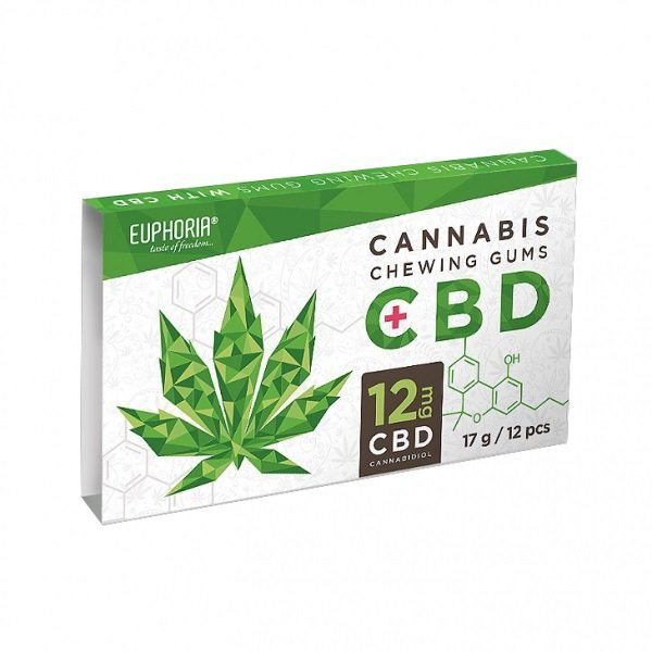 Euphoria - Cannabis Chewing Gum CBD - 12mg