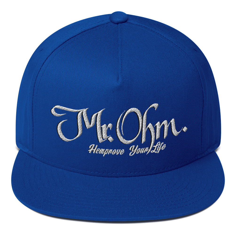 Mr.Ohm Flat Bill Cap