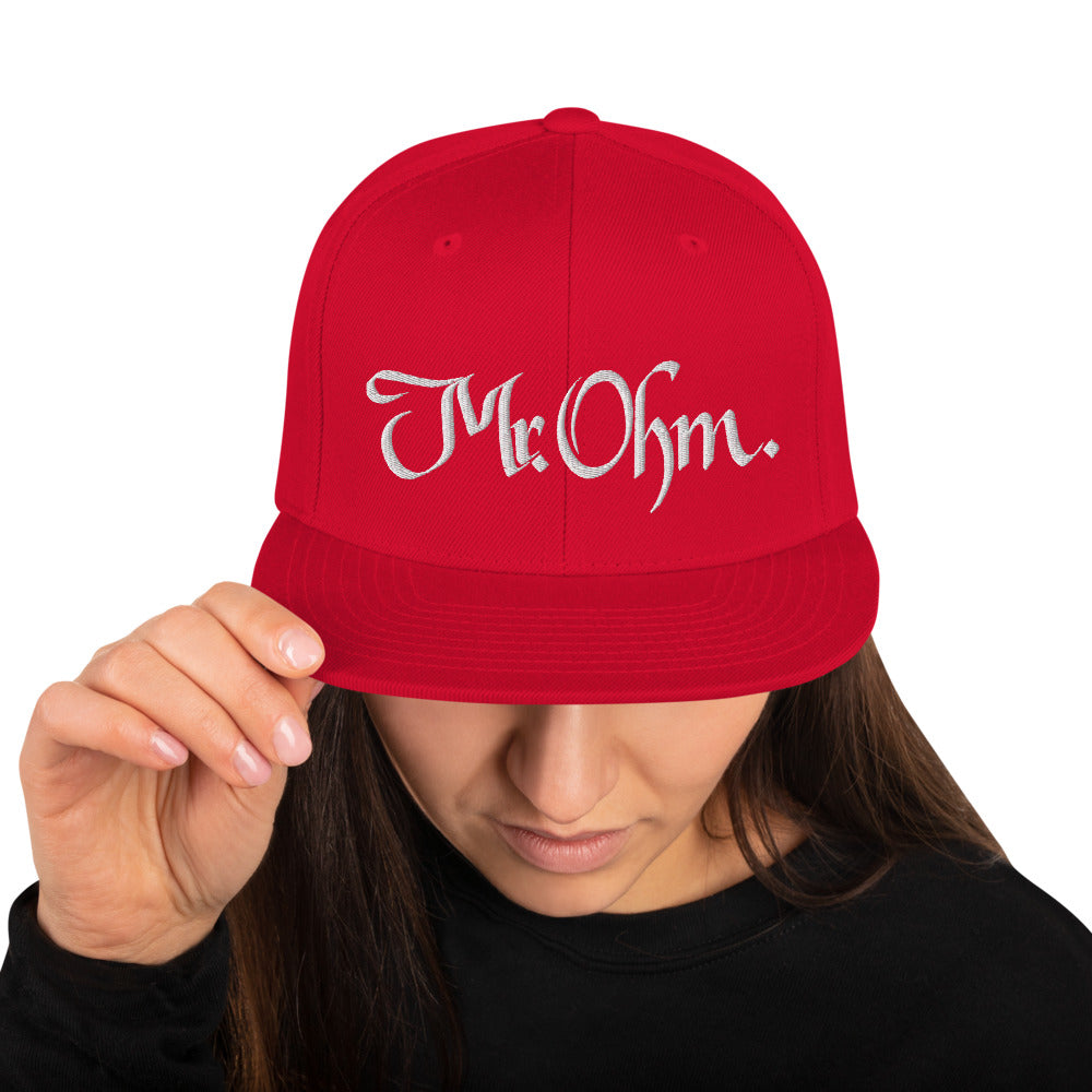 Mr.Ohm 3D Puff Snapback Hat