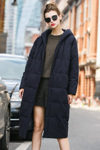Woman Fall Long Sleeve Wool Coat -Light Gray