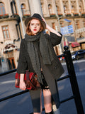 Woman Fall Casual Wool Short Jacket - Gray