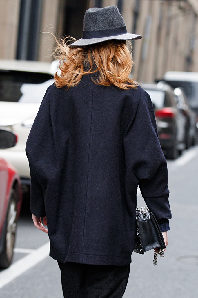 Woman Wool Blend Jacket - Navy