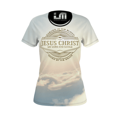 Jesus Ladies Tee: Heavenly Streets of Gold Edition