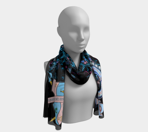 Gamma Phi Delta 75th Anniversary Scarf in Black