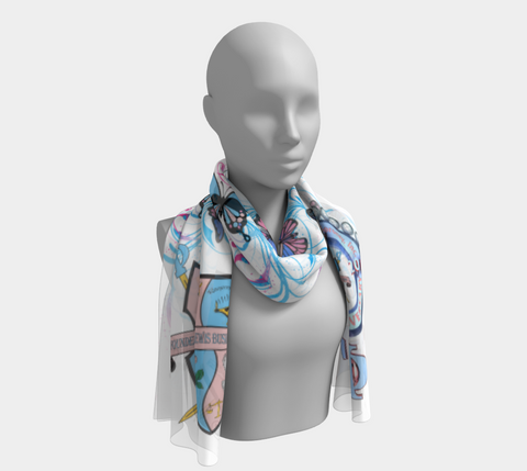 Gamma Phi Delta 75th Anniversary scarf in White